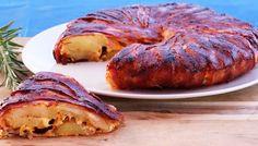 Kochvideo zum einfach nachkochen: Für diese herzhafte Tarte wird eine Kartoffel-Käse-Füllung mit krossem Bacon umhüllt - Was will mehr? Wir finden: Einfach
