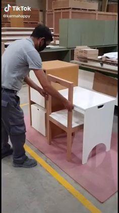 Folding Furniture, Smart Furniture, Space Saving Furniture, Home Decor Furniture, Furniture Decor, Diy Home Decor, Furniture Design, Multipurpose Furniture, Home Room Design
