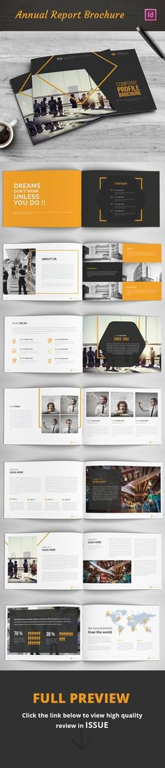 Annual Report Brochure on Behance