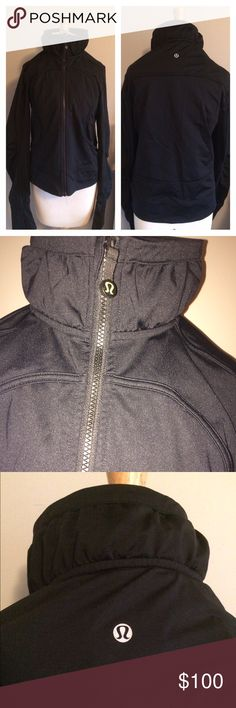 Lululemon Jacket.  Solid black. Size 10/12 Awesome jacket.  Heavier then the define.  Not 100% sure what style it is though.  It doesn't have a hood.  Pockets have mesh on the inside and a hidden pocket. Logo on back of neck and zipper.  Like new condition. lululemon athletica Jackets & Coats