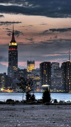 Empire State Building in Night, NYC
