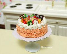 Dollhouse Miniature Cake High Tea Cake display Stand by BEADSPAGE
