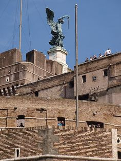 st. michael on top of Castel Sant'angelo