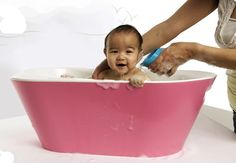 Love this baby bath from hoppop. Great colors, too.