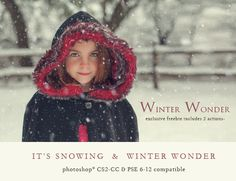 Add realistic snow and winter color to your images with this fun set of FREE photoshop actions