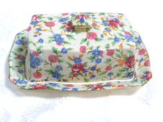 Royal Winton Grimwades Old Cottage Chintz (1943-1948) Covered Butter Dish | eBay
