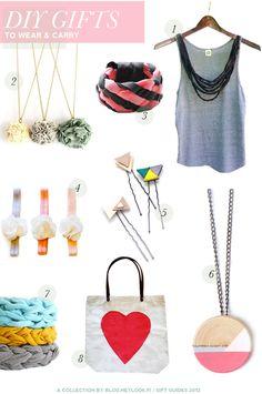 HEY LOOK: DIY GIFT IDEAS i like the pom pom necklace(Diy Necklace Gift)