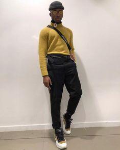 The Golden Dapper Black Men Street Fashion, Mens Fashion, Fashion Outfits, Yellow Clothes, Street Style, Sharp Dressed Man, Stylish Men, Streetwear Fashion, Winter Fashion