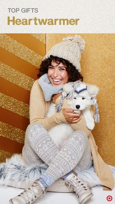 What's the best gift ever for the pet lover on your Christmas list? The gift of warm, cozy clothes for both her and her pooch. Because no matter the weather, dog walks are a must. For the pup, a soft knit hat and jacket are so incredibly cute. And for the dog mom? A pom hat and scarf, soft knit sweater, Fair Isle legging — anything that'll keep her comfy on winter evening walks.
