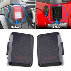 AniFM Car Tailgate Glass Lift Door Light Led Lamp Rear Tail Trunk Light Car Accessories for Jeep Wrangler TJ JK JL 1997-2019