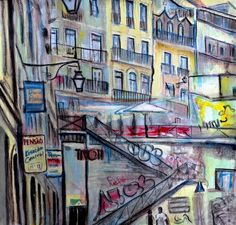Buy Stairs of Lisbon, Watercolor by Alex Solodov on Artfinder. Discover thousands of other original paintings, prints, sculptures and photography from independent artists.
