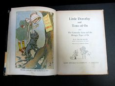 Rare-Antique-VTG-Little-Dorothy-and-Toto-of-Oz-Baum-Neill-c-1939-HC-Wizard