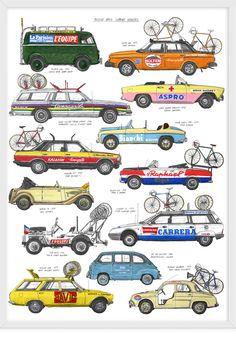 Bike Race Support Vehicles // David Sparshott.