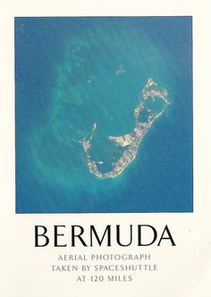 BERMUDA taken from the SpaceShuttle  >what do you see?....I see a mermaid with long hair & her arms extended out/up playing with a baby dolphin...