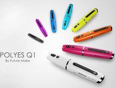 Profesjonalny długopis 3D w różnych wersjach kolorystycznych. POLYES Q1 jest dostępny na 36.pl