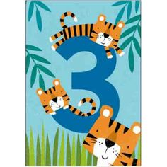 Cardmix Tiger Tail Children's Age card 074492
