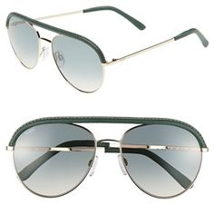 107d9f9032  Tod s  Eyewear  Tod s  55mm  Aviator  Sunglasses  Shiny  Pale