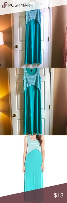 Allison Brittany Small Maxi Dress Allison Brittany Turquoise Popover Dress Small in amazing condition. Allison Brittney Dresses Maxi