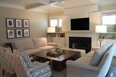 Beach Style Living Design Ideas, Pictures, Remodel and Decor