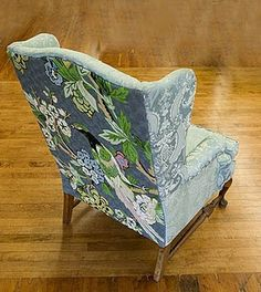 Cool peacock wingback chair.