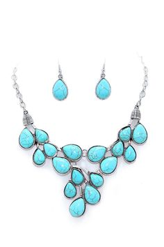 Maya Necklace in Turquoise   Women's Clothes, Casual Dresses, Fashion Earrings & Accessories   Emma Stine Limited