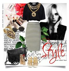 A fashion look from September 2015 featuring logo shirts, pencil skirts and leather shoes. Polyvore Outfits, Moschino, Thats Not My, Told You So, Michael Kors, Pencil, Stuff To Buy, Ice, Shopping