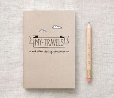 44 Super Ideas for travel diary travelers notebook paper Travelers Notebook, Notebook Paper, Journal Notebook, Small Notebook, Crayon, Journal Inspiration, Hand Lettering, Journaling, Travel Journals