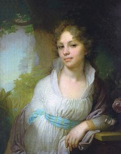 Vladimir Lukich Borovikovsky - Maria Lopukhina, 1797  Royal mistress to Emperor Paul of Russia. In 1798, She replaced Catherine Nelidova as the chief mistress.[1]