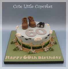 60th Birthday cake for a keen walker & birdwatcher x