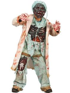 Doctor costume zombie adult mens