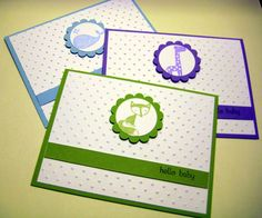Perfect Polka Dots baby cards by rc100 - Cards and Paper Crafts at Splitcoaststampers