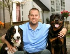 Big Ben with his Bernese and Roetweiller