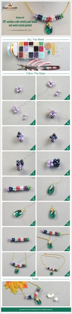 We carry a large selection of glass pearl beads in a variety of colors and shapes as well as graduated strands of glass pearl beads. Try them in bracelets, colorful necklaces, dangling earrings, and more. Diy Necklace, Necklaces, Bracelets, Beads And Wire, Pearl Beads, Diy Crafts Jewelry, Handmade Jewelry, China Crafts, Beaded Necklace Patterns