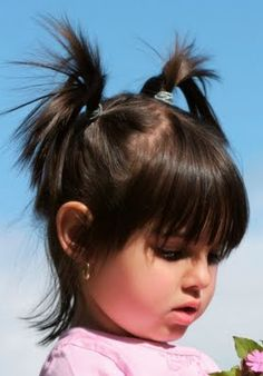 kids hairstyles - how cute is she! VERY CUTE! but these are pig tails. how hard is this?