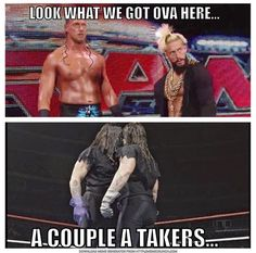 Enzo and big cass cuppa Hatas meme undertaker style