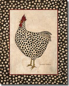 Spotted Chicken Art Print at Posters2Prints.com