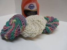 Set of Three Hand Crocheted Kitchen by Tinastreasureisland on Etsy, $5.50