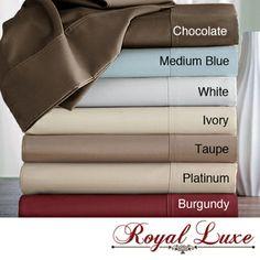 Royal Luxe Egyptian Cotton 600 Thread Count Sateen Sheet Set