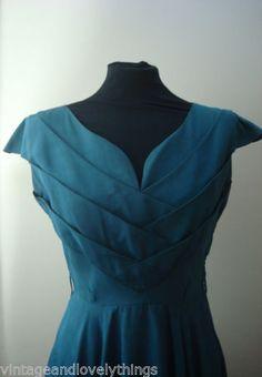Vintage-Original-1950s-Dress-By-Kitty-Copeland-Cocktail-Evening-UK-10