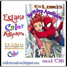 #EXlibrisColor Chica con #Spiderman Tan lejos los recuerdos de días felices y extraños. Mis viejas fotos mienten, tu pelo es más liso y claro. #EXLibris Creativos Color es la manera más original y divertida de personalizar tus #libros y #comics!!  ¡¡Visita nuestra web http://exlibriscreativos.es y déjate sorprender!! #ComparteCultura #RegalaEXlibris #RegaloPersonalizado #bookplates #Stamp #DiseñoGrafico #GraphicDesign #books #Leer #Lectura #read #reading #reader #literature #leyendo…