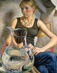 Girl with Water Jug, 2003 by Michael Taylor on Curiator, the world's biggest collaborative art collection. Art Painting, Fine Art, Contemporary Portrait, Contemporary Artists, Figure Painting, Portraiture, Female Art, Art, Portrait Art