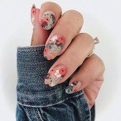 Spring Nail Art, Nail Designs Spring, Cute Spring Nails, Spring Nail Trends, Floral Nail Art, Nail Designs Floral, Unique Nail Designs, Nail Art Flowers Designs, Nails With Flower Design
