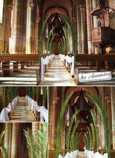 Eglise Notre Dame Poitiers - Décoration de cérémonie - Décor de mariage - Location tapis blanc - Idées décoration florale exotique, antilles, afrique
