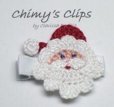 Santa Claus Jo Jo a mano Navidad pinza de pelo por ChimysClips