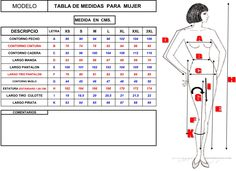 tabla de medidas mujer xs s m l xl xxl Small Dog Clothes, Couture, Sewing Techniques, Sewing Hacks, Fabric, How To Make, Style, Body Measurements, Google