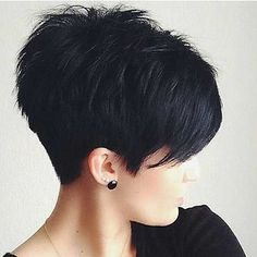 pixie hairstyles 2015 Textured pixie cut with full fringe and ragged tips on straight black . Oval Face Hairstyles, Popular Short Hairstyles, 2015 Hairstyles, Cool Hairstyles, Popular Haircuts, Hairstyle Ideas, Black Hairstyles, Fringe Hairstyles, Edgy Pixie Hairstyles