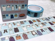 Hanging laundry washi tape