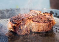 Bon Appetit Steak cooked on slate.....      Print     E-Mail     Feeds  Recipes & Menus | recipes Slate-Grilled Porterhouse, Summer Vegetables, and Sourdough Bread