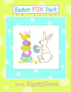 Free Easter FUN Pack with Bunny printables, coloring, counting, tracing and more.