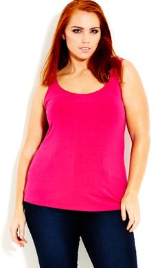 City Chic - COLOURED BALLERINA CAMI - Women's Plus Size Fashion #citychic #citychiconline #newarrivals #plussize